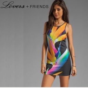💐NWT LOVERS & FRIENDS FLORAL BODYCON TANK DRESS💐